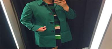 앤테일러 초록트렌치코드 후기